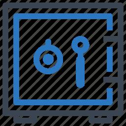 deposit, safe, secure, vaulted door icon