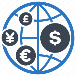 currency, finance, global investment, money icon