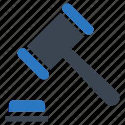 auction, gavel, hammer, law icon
