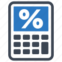 finance calculator, mortgage loan, percentage icon