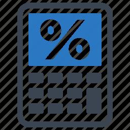finance calculator, mortgage loan, percentage icon