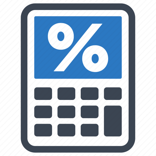 finance calculator  mortgage loan  percentage icon