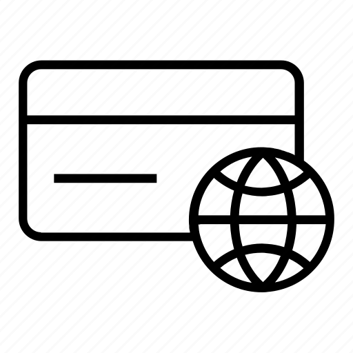 card, international, transaction icon
