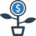 growth, investment, startup icon