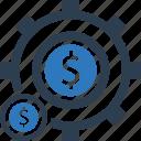 finance, gear, money, settings