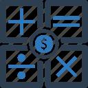 accounting, calculation, calculator, money icon