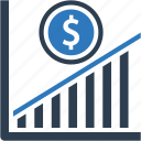 growth, income, increase, money, profit icon