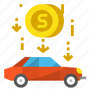 automobile, car, delivery, loan, shipping, transportation icon