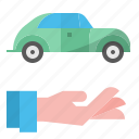 car, credit, currency, loan, money, transaction icon