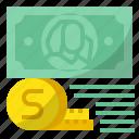 bundle, cash, coin, dollars, money icon