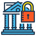 bank, banking, lock, safe, secure icon
