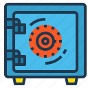 bank, box, lock, safe, security icon