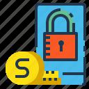 mobile, money, phone, replenishment, safe icon