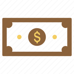 cash, currency, dollar, finance, income, money, note icon