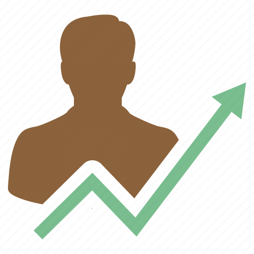 business, businessman, growth, income, increase, investor, sucess icon