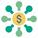 affiliate, cash, dollar, finance, money, source icon
