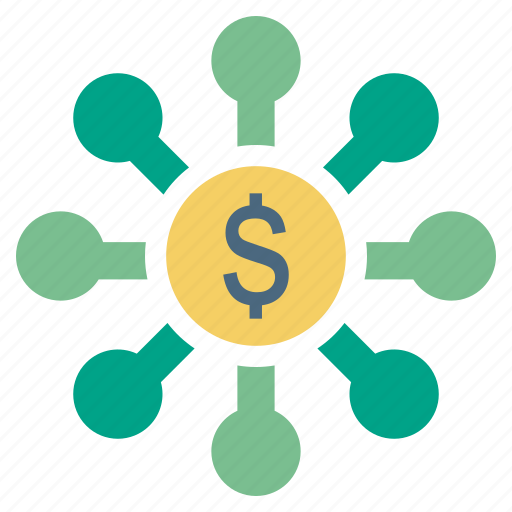 affiliate, cash, dollar, finance, money, source icon