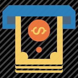 atm, cash out, cashout, dollar, income, money icon