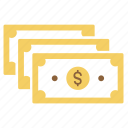 cash, dollar, income, money, notes, payment icon