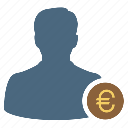 businessman, euro, finance, income, investment, investor, money icon