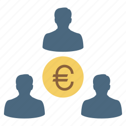 business, businessman, euro, finance, group, investor, team icon
