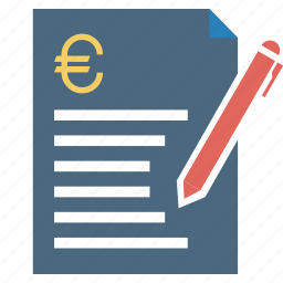 bill, challan, document, euro, finance, loan, quotation icon