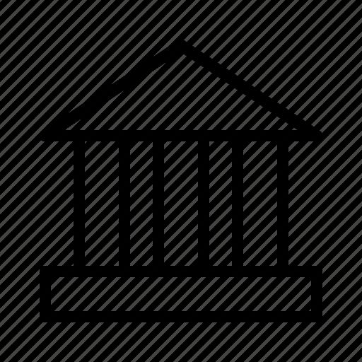 bank, building, cash, finance, money icon
