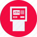 atm, business, cash, currency, finance, machine, money icon