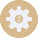 business, cash, currency, finance, money, settings icon
