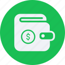 business, cash, currency, finance, money, wallet icon
