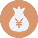 bag, business, cash, currency, finance, money, yuan icon