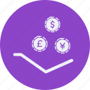 business, cash, currency, finance, get, money icon