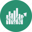 business, cash, chart, currency, finance, line, money icon