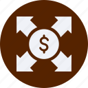 business, cash, currency, doller, finance, money, networking icon