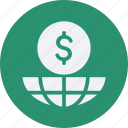 business, cash, currency, doller, finance, global, money icon