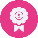 business, cash, currency, finance, medal, money icon