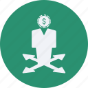 business, cash, currency, decision, finance, making, money icon