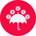 business, cash, currency, finance, money, rain icon