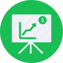 business, cash, currency, finance, money, presentation icon