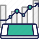 data, finance, fund, invest, mobile, stock, trade icon