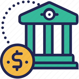coin, finance, financial, fund, institution, investment, money icon