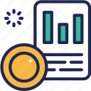 coin, data, document, fund, invest, loan, stock icon