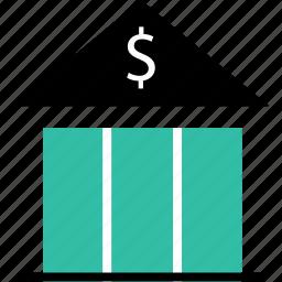 bank, banking, dollar, finance, money, online icon