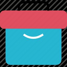 briefcase, case, finance, money, online, smile icon