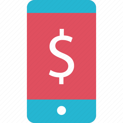 cell, dollar, finance, money, online, phone icon