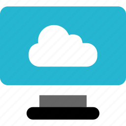 cloud, finance, money, monitor, online icon