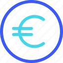 25px, coin, euro, iconspace icon