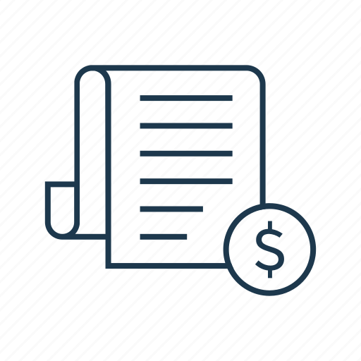 account, accounting, bill, finance, invoice, receipt, tax, taxes icon