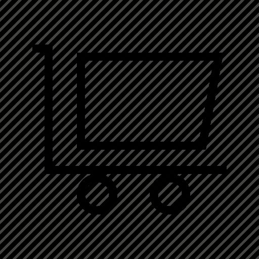 cart, cash, exchequer, finance, market, money icon