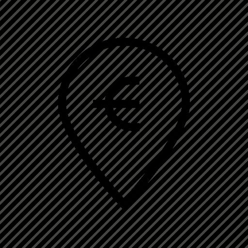 Cash, euro, exchequer, finance, location, money icon - Download on Iconfinder
